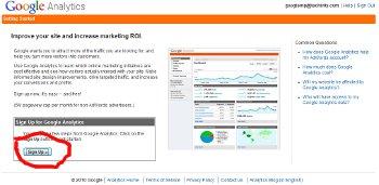 Analytics Sign-Up Screen