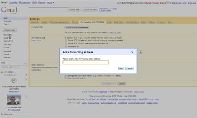 Forwarding Gmail in Settings