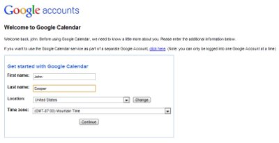 Google Calendar Creation